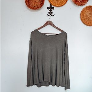 NWT Mossimo Olive Ribbed Thermal